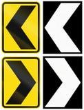 Μια συλλογή των οδικών σημαδιών της Νέας Ζηλανδίας - σιρίτια διανυσματική απεικόνιση