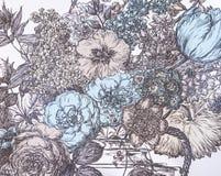 Μια ταπετσαρία υποβάθρου με τα λουλούδια Στοκ φωτογραφία με δικαίωμα ελεύθερης χρήσης