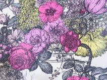 Μια ταπετσαρία υποβάθρου με τα λουλούδια Στοκ Εικόνα