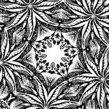 Μια τετραγωνική σύσταση με τα φύλλα, hand-drawn απεικόνιση Στοκ φωτογραφία με δικαίωμα ελεύθερης χρήσης