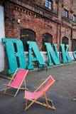 Μια τράπεζα σημαδιών Στοκ Φωτογραφία