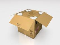 Μια τρισδιάστατη απεικόνιση κουτιών από χαρτόνι Στοκ Φωτογραφία