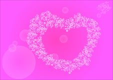Μια τρυφερή καρδιά των επιπλεουσών σφαιρών απεικόνιση αποθεμάτων