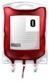 Μια τσάντα αίματος με το αίμα τύπων Ο απεικόνιση αποθεμάτων