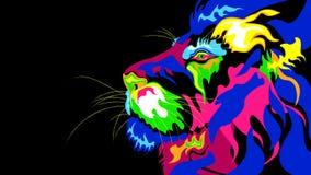 Μια τυποποιημένη αφαίρεση ενός λιονταριού διανυσματική απεικόνιση