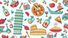 Μια τυποποιημένη σύνταξη των θεών της Ιταλίας απεικόνιση αποθεμάτων