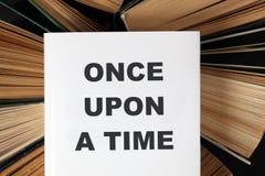 Μια φορά κι έναν καιρό βιβλίο Στοκ Εικόνες