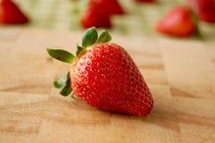 Κινηματογράφηση σε πρώτο πλάνο φραουλών στοκ εικόνες
