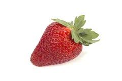 Μια φράουλα στο λευκό Στοκ φωτογραφία με δικαίωμα ελεύθερης χρήσης