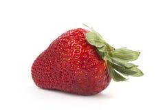 Μια φράουλα στο λευκό Στοκ Εικόνες