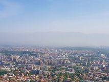 Μια φωτογραφία της πόλης από την εναέρια άποψη στοκ εικόνες
