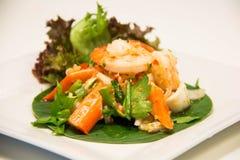 Μια φωτογραφία της ταϊλανδικής πικάντικης σαλάτας θαλασσινών Στοκ φωτογραφία με δικαίωμα ελεύθερης χρήσης