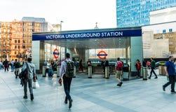 Μια χαρακτηριστική άποψη σε Βικτώρια στο Λονδίνο στοκ εικόνες