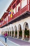Μια χαρακτηριστική άποψη της Καρχηδόνας Κολομβία Στοκ Φωτογραφία