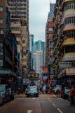Μια χαρακτηριστική οδός του Χονγκ Κονγκ στοκ εικόνες