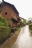 Μια χαρακτηριστική σκηνή του χωριού στη konkan περιοχή, της Ινδίας Στοκ εικόνες με δικαίωμα ελεύθερης χρήσης