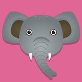 Μια χαριτωμένη διανυσματική απεικόνιση ελεφάντων Στοκ εικόνες με δικαίωμα ελεύθερης χρήσης