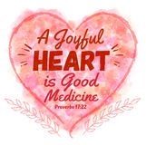 Μια χαρούμενη καρδιά είναι καλή ιατρική Διανυσματική απεικόνιση