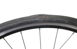 Μια χαλασμένη ρόδα ποδηλάτων Στοκ Εικόνες
