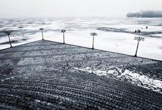 Μια χειμερινή σκηνή σε Dnipro, Ουκρανία Στοκ Εικόνες