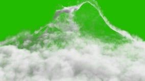 Μια χιονοστιβάδα καπνού που διαμορφώνεται μετά από μια ισχυρή έκρηξη μπροστά από μια πράσινη οθόνη ελεύθερη απεικόνιση δικαιώματος