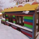 Μια χιονώδης χειμερινή παιδική χαρά στο Ουαϊόμινγκ στοκ εικόνα με δικαίωμα ελεύθερης χρήσης