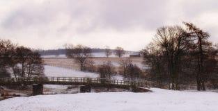 Μια χιονώδης ημέρα στην αγγλική περιοχή λιμνών Στοκ φωτογραφία με δικαίωμα ελεύθερης χρήσης