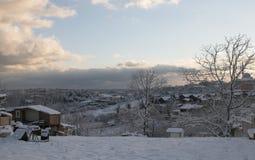 Μια χιονώδης ημέρα Στοκ φωτογραφία με δικαίωμα ελεύθερης χρήσης