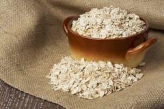 Μια χούφτα oatmeal Στοκ Φωτογραφίες