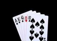 Μια χρεωκοπημένη εκροή στο πόκερ στοκ φωτογραφίες