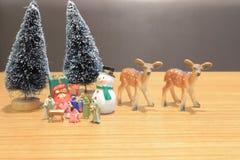 μια χριστιανική σκηνή Nativity του αριθμού του Ιησού μωρών στοκ φωτογραφία με δικαίωμα ελεύθερης χρήσης