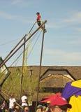 Μια ψευτοπαλλικαράς Bungee στο φεστιβάλ αναγέννησης της Αριζόνα Στοκ Φωτογραφία