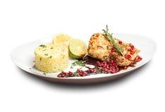 Μια ψημένη μπριζόλα χοιρινού κρέατος Στοκ εικόνες με δικαίωμα ελεύθερης χρήσης