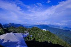 Μια όμορφη άποψη από την κορυφή του λόφου σε Langkawi Μαλαισία στοκ φωτογραφίες