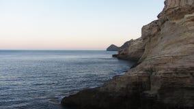 Μια όμορφη άποψη της παραλίας Cabo de Gata Στοκ Εικόνες