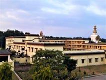 Μια όμορφη άποψη του βουδιστικού μοναστηριού στοκ εικόνα