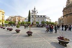 Μια όμορφη άποψη Plaza Virgen de Los Reyes στη Σεβίλη, Στοκ φωτογραφίες με δικαίωμα ελεύθερης χρήσης