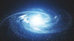 Μια όμορφη διαστημική σκηνή με έναν περιστρεφόμενο γαλαξία διανυσματική απεικόνιση