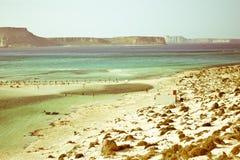 Μια όμορφη λιμνοθάλασσα μεταξύ των νησιών της Ελλάδας Στοκ φωτογραφία με δικαίωμα ελεύθερης χρήσης