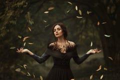 Μια όμορφη μάγισσα στοκ φωτογραφία