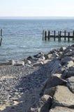 Μια όμορφη μυστική παραλία στη θάλασσα της Βαλτικής στοκ φωτογραφίες