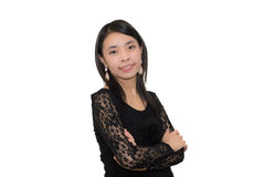Βέβαια ασιατική γυναίκα Στοκ φωτογραφίες με δικαίωμα ελεύθερης χρήσης