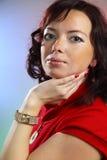 μια όμορφη νέα προκλητική γυναίκα Στοκ Εικόνες