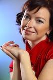 Μια όμορφη νέα προκλητική γυναίκα Στοκ Εικόνα