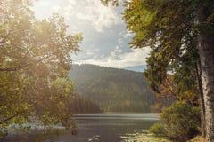 Μια όμορφη σκηνή τοπίων στο μεγάλο arber λιμνών Στοκ Φωτογραφίες
