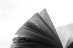 Μια όμορφη φωτογραφία ενός ανοικτού βιβλίου Ανάγνωση και λογοτεχνία Σελίδες στον αέρα Στοκ εικόνα με δικαίωμα ελεύθερης χρήσης