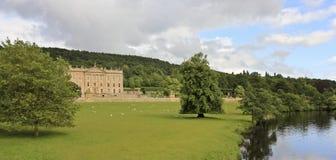 Μια όψη Chatsworth του σπιτιού, Μεγάλη Βρετανία Στοκ Εικόνες