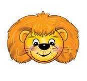 Μια cub λιονταριών μάσκα, καρναβάλι, γεγονότα των παιδιών, κινούμενα σχέδια διανυσματική απεικόνιση