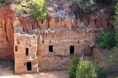 Μια etruscan νεκρόπολη, Populonia, Ιταλία Στοκ εικόνα με δικαίωμα ελεύθερης χρήσης