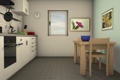 Μια homely κουζίνα διανυσματική απεικόνιση